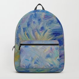 Blue Bird Fancy colorful bird Wildlife illustration Impressionistic painting of nature Backpack