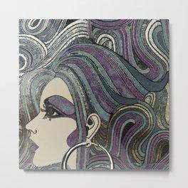 Seventies Girl Metal Print