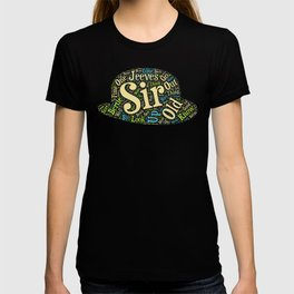 Jeeves and Wooster Bowler Hat T-shirt