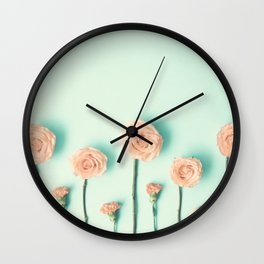 Pink roses and Carnations Wall Clock