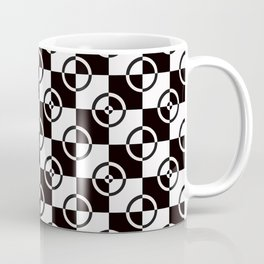 black & white check repeat Coffee Mug