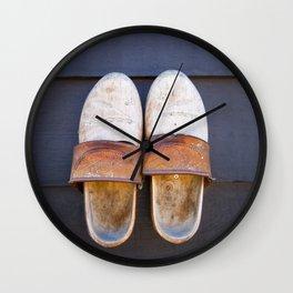 Typical dutch clogs Wall Clock