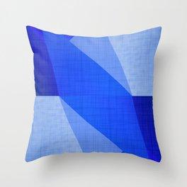 Lapis Lazuli Shapes - Cobalt Blue Abstract Throw Pillow