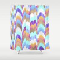 glitch Shower Curtains featuring Glitch by Elisabeth Fredriksson