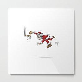 Santa dunks more than cookies. Metal Print