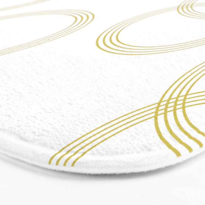 Simply Infinity Link Mod Yellow and White Bath Mat