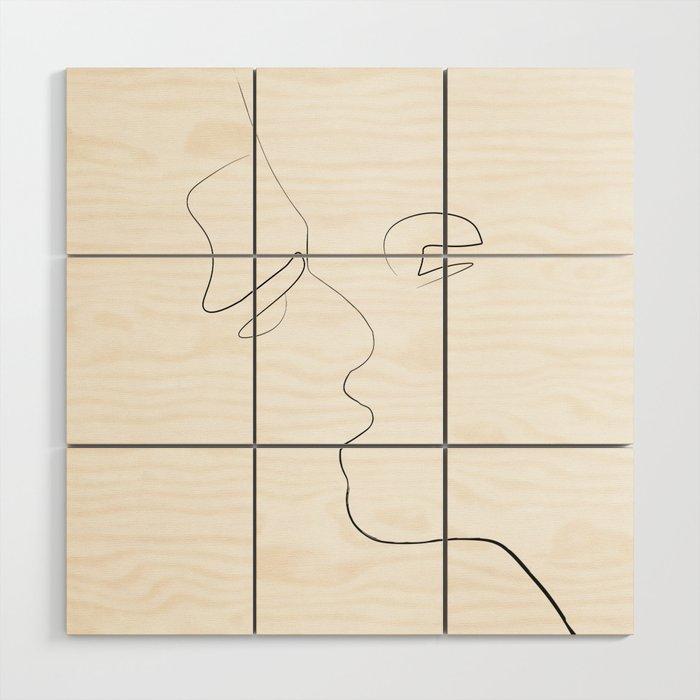 Lovers-Minimlism Wood Wall Art
