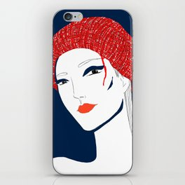 the girl with the hat iPhone Skin