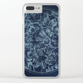 Vintage Constellation & Astrological Signs Clear iPhone Case