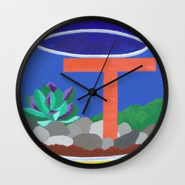 T is for Terrarium  Wall Clock