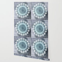 BOHOCHIC MANDALA IN BLUE Wallpaper