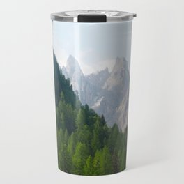 Forest Pines and Mountain Spikes Travel Mug