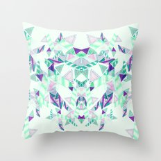 Kaleidoscopic print illustration  Throw Pillow