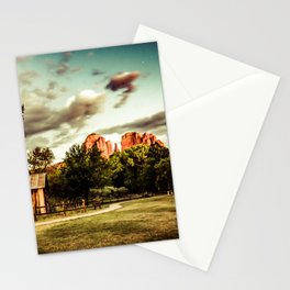 Southwest Chimney Rock Vortex Sedona Arizona Stationery Cards