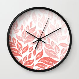 LIVING CORAL LEAVES 3 Wall Clock
