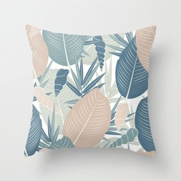 LEAVES AND SHELLS Throw Pillow
