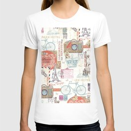 Paris Pattern 1 World Travel T-shirt