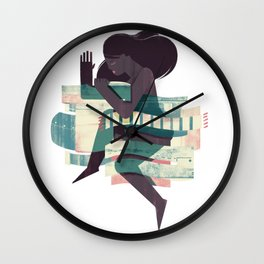 Dressing for Comfort Wall Clock