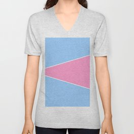 just two colors 7: blue and pink Unisex V-Neck