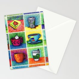 The Daily Coffee Poster Stationery Cards