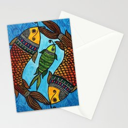 3 Fishes Stationery Cards