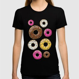 Donut Pattern - Black T-shirt
