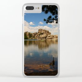 What A Beautiful Day At Sylvian Lake Clear iPhone Case