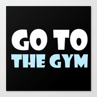 gym Canvas Prints featuring GYM GYM by ItsFahmi