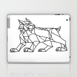 Lynx Prowling Black and White Mosaic Laptop & iPad Skin