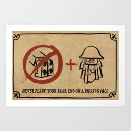 Metal Beard's Rule 1 Art Print