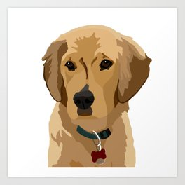 Beau the Golden Retriever Puppy Art Print