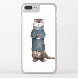 Wesley the River Otter Clear iPhone Case