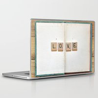 kindle Laptop & iPad Skins featuring Book Love by elle moss