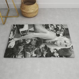 Pizza Is Better Than - Vintage Collage Rug