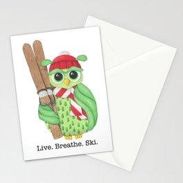 Live. Breathe. Ski. Stationery Cards