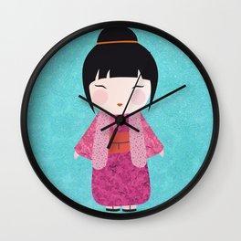 Kokeshi Kinu Wall Clock