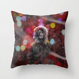 color snow Throw Pillow
