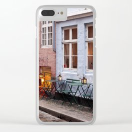 Copenhagen Sidewalk Cafe Clear iPhone Case