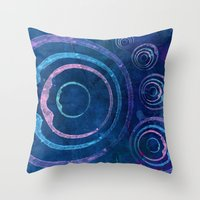 meditation Throw Pillows featuring Meditation by Sonia Marazia