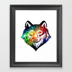 Wolf Universe Framed Art Print