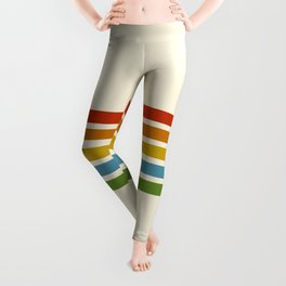 Retro Rainbow Stripes 2 Leggings