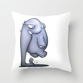 My Digital Zoo - Elephant Throw Pillow