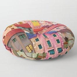 a city Floor Pillow