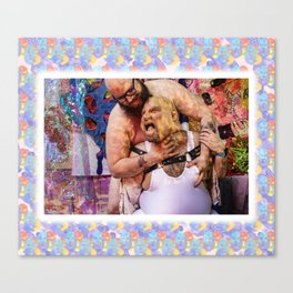 you be the heel, I'll be the face: B1 Canvas Print