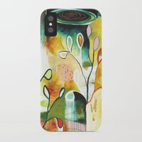 """flora bowley iPhone & iPod Cases featuring """"Deep Growth"""" Original Painting by Flora Bowley by Flora Bowley"""