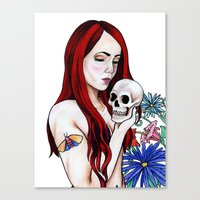 redhead Canvas Prints featuring Redhead by Margret Stewart