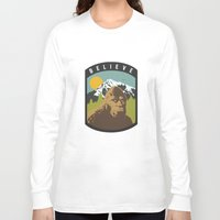 bigfoot Long Sleeve T-shirts featuring Bigfoot Patch by uhohreilly