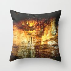 Reflections inside a Dolomite Cave Throw Pillow