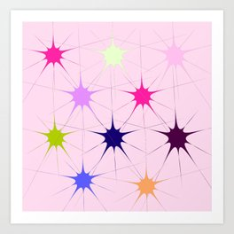 Star Bursts Art Print