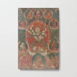 White Mahakala - Ancient Buddhist Art Metal Print